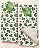 St. Patrick's Day Shamrock Kitchen Bathroom Hand Towels, Set of 2