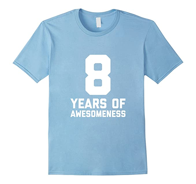 Mens 8th Birthday Shirt Gift Age 8 Year Old Boy Girl Tshirt Tee 2XL Baby Blue