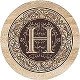 Thirstystone Drink Coaster Set, Monogrammed Letter H
