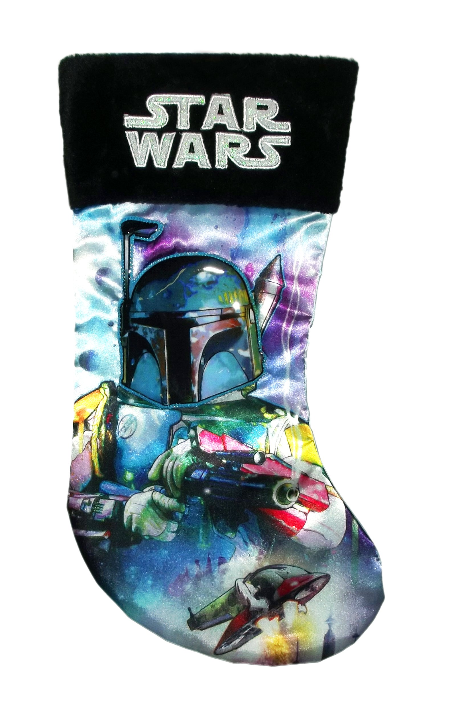 19-Inch Star Wars Boba Fett Applique Stocking by Kurt Adler