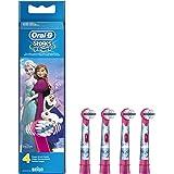 Oral-B Stages Power - Cabezal de recambio para cepillo eléctrico con los personajes de Frozen, 4 unidades