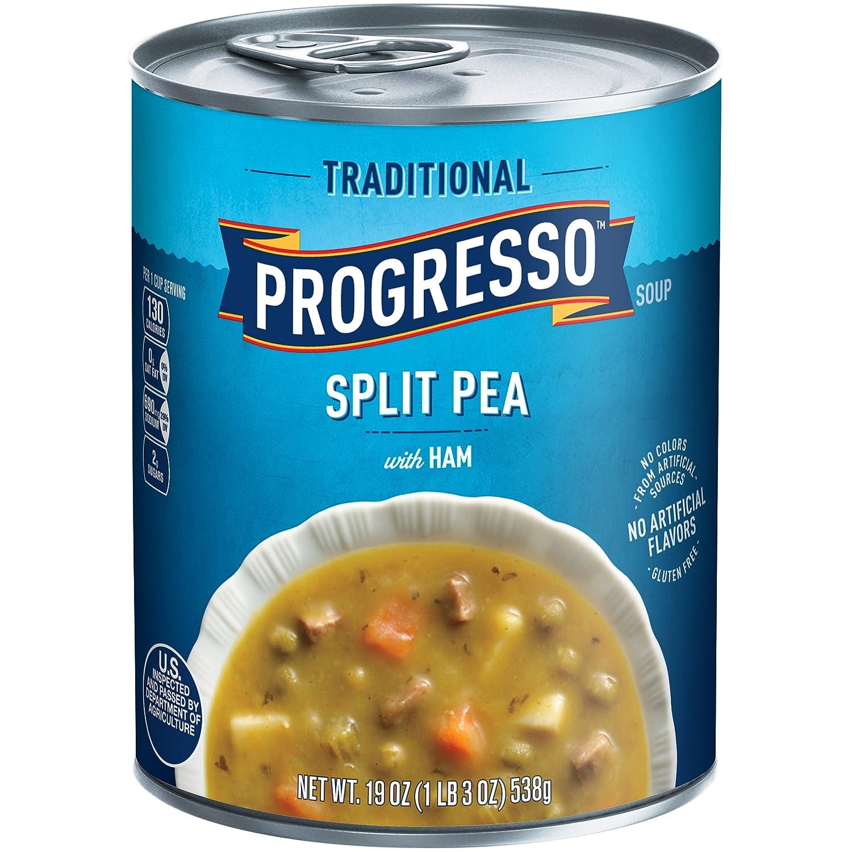 Amazon.com: Progresso Soup, Traditional, Split Pea with Ham Soup, 19 ...