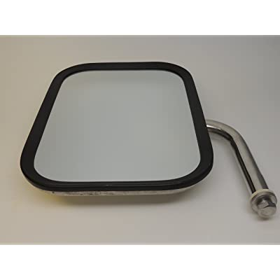 "Truck-Lite 97662 Medium Duty Truck Mirror 7-1/2''x10-1/2'' Rectangular Stainless steel, 5"" elbow: Automotive"