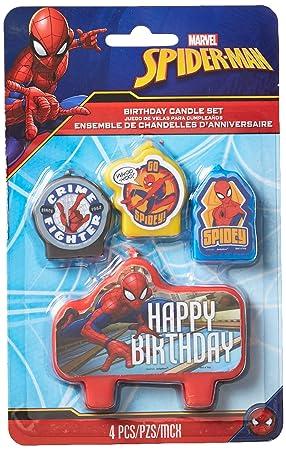 Spider-Man - Juego de Velas para cumpleaños: Amazon.es ...