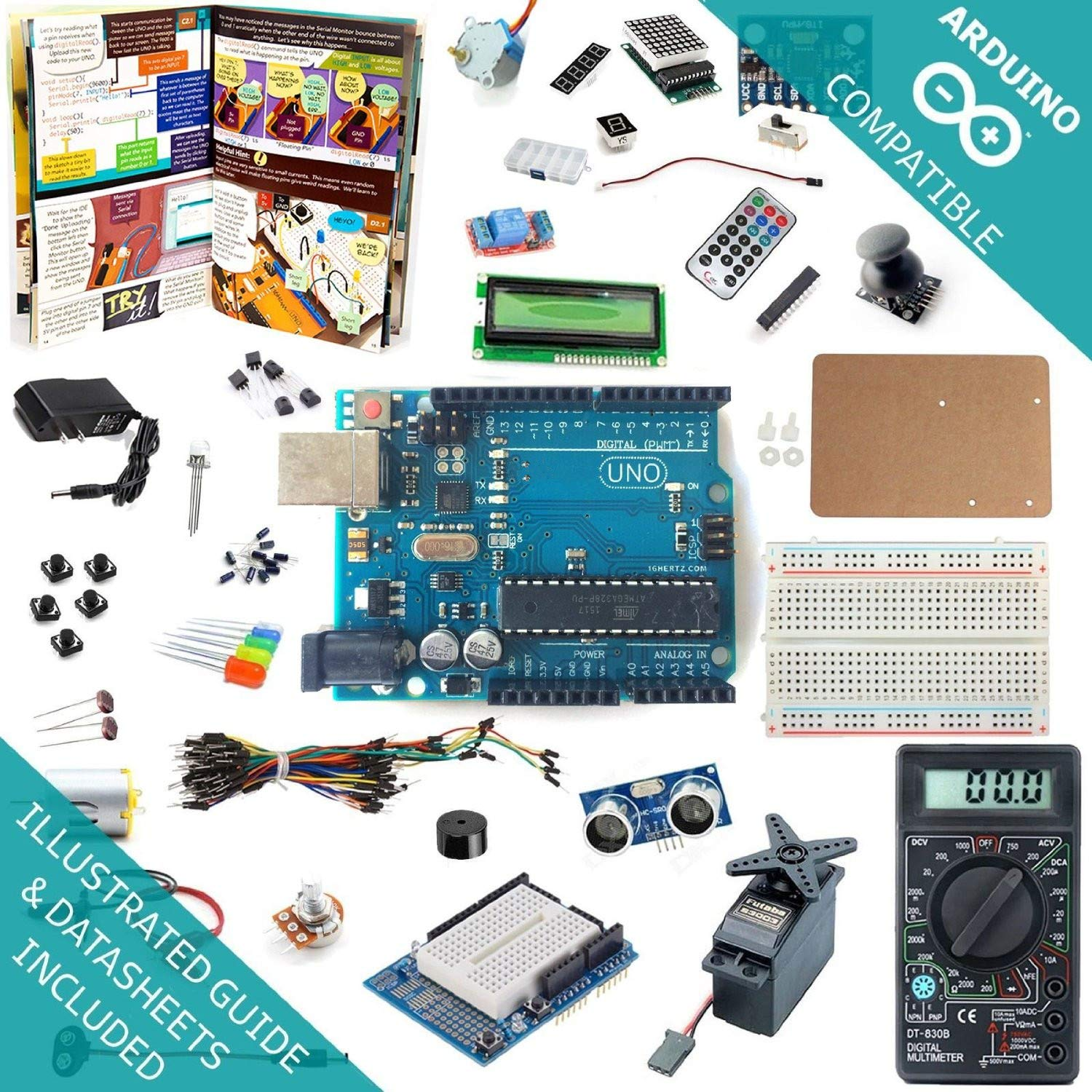 Arduino Uno R3 Kit ARDEST (7M85VW4J)