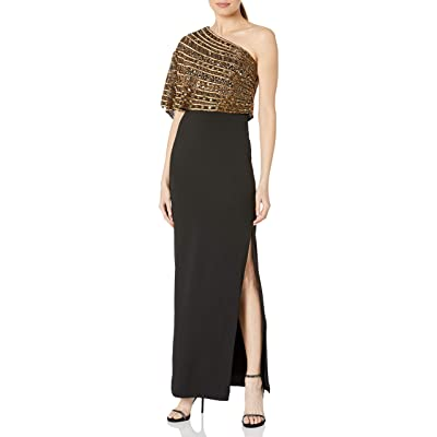 Adrianna Papell Women's Beaded Crepe Dress at Amazon Women's Clothing store