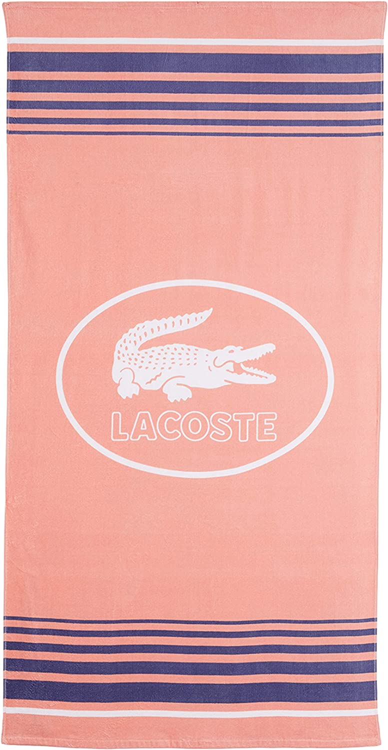 36 W x 72 L Teal Lacoste Coolness 100/% Cotton Beach Towel