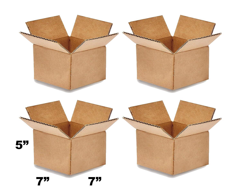 8NET caja de embalaje corrugada, caja de envío marrón, 7 x 7 x 5 pulgadas: Amazon.es: Industria, empresas y ciencia