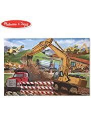 Melissa & Doug Construction Vehicles Jigsaw Floor Puzzle Beautiful Original Artwork, Sturdy Cardboard Pieces, 48 Pieces