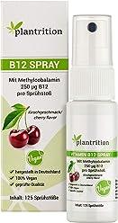 Vitamin B12 Spray Vegan 250 µg Methylcobalamin pro Sprühstoß Kirschgeschmack