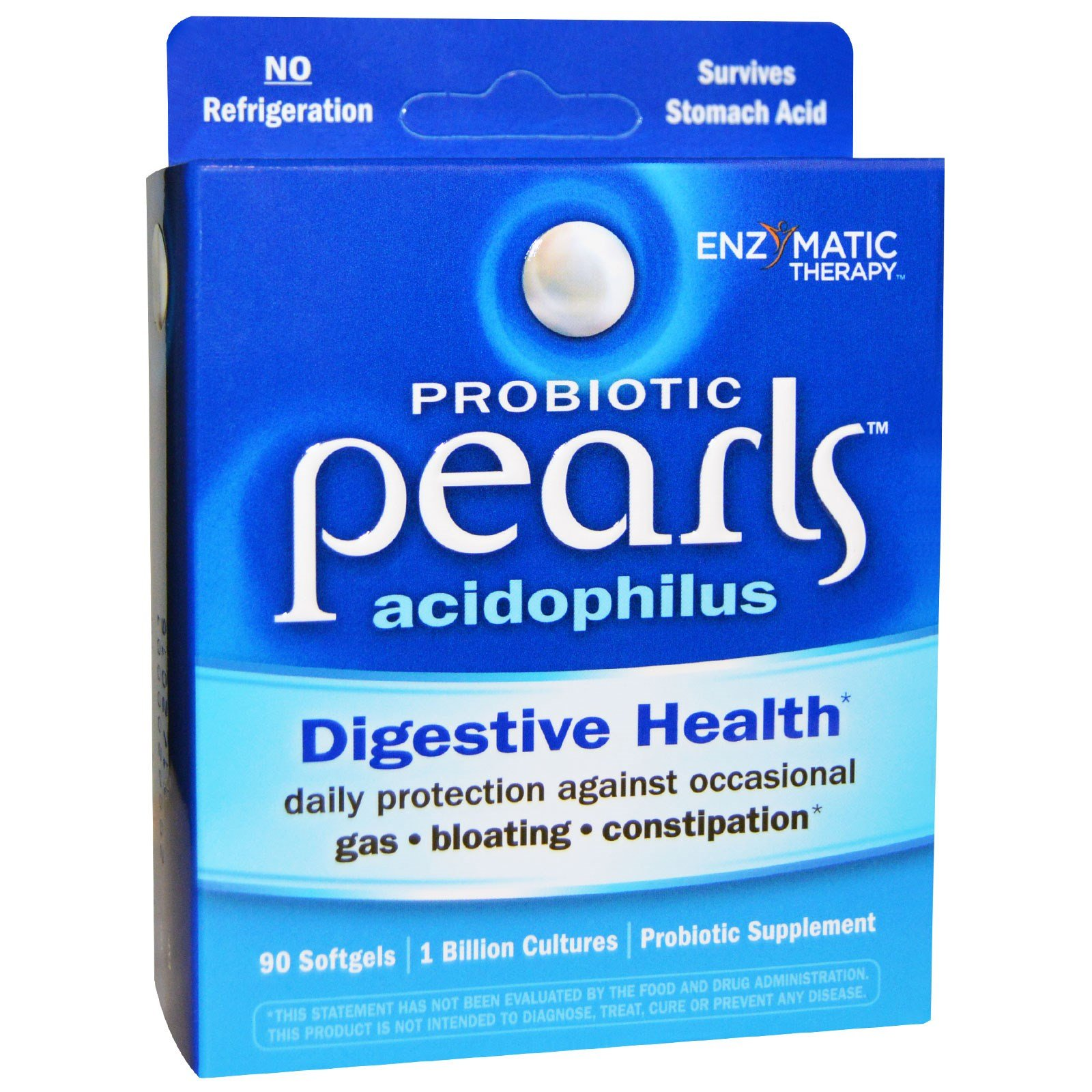 Enzymatic Therapy, Probiotic Pearls Acidophilus, 90 Softgels - 3PC
