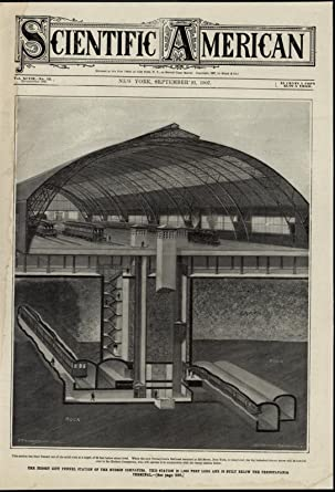 amazon com: jersey city tunnel station cutaway diagram trains nice 1907  scarce vintage print: entertainment collectibles