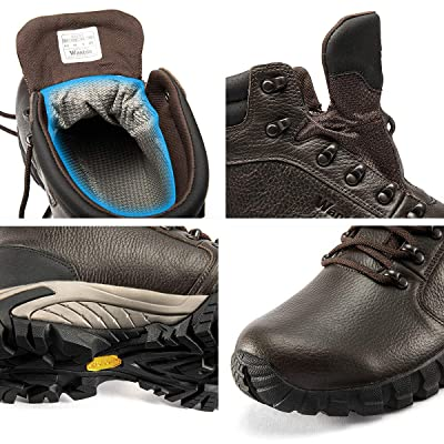 Wantdo Men/'s Waterproof Hiking Boots Warm Insulated Winter Boots Lightweight Comfortable Backpacking Shoes Casual Fashion Vibram Boots