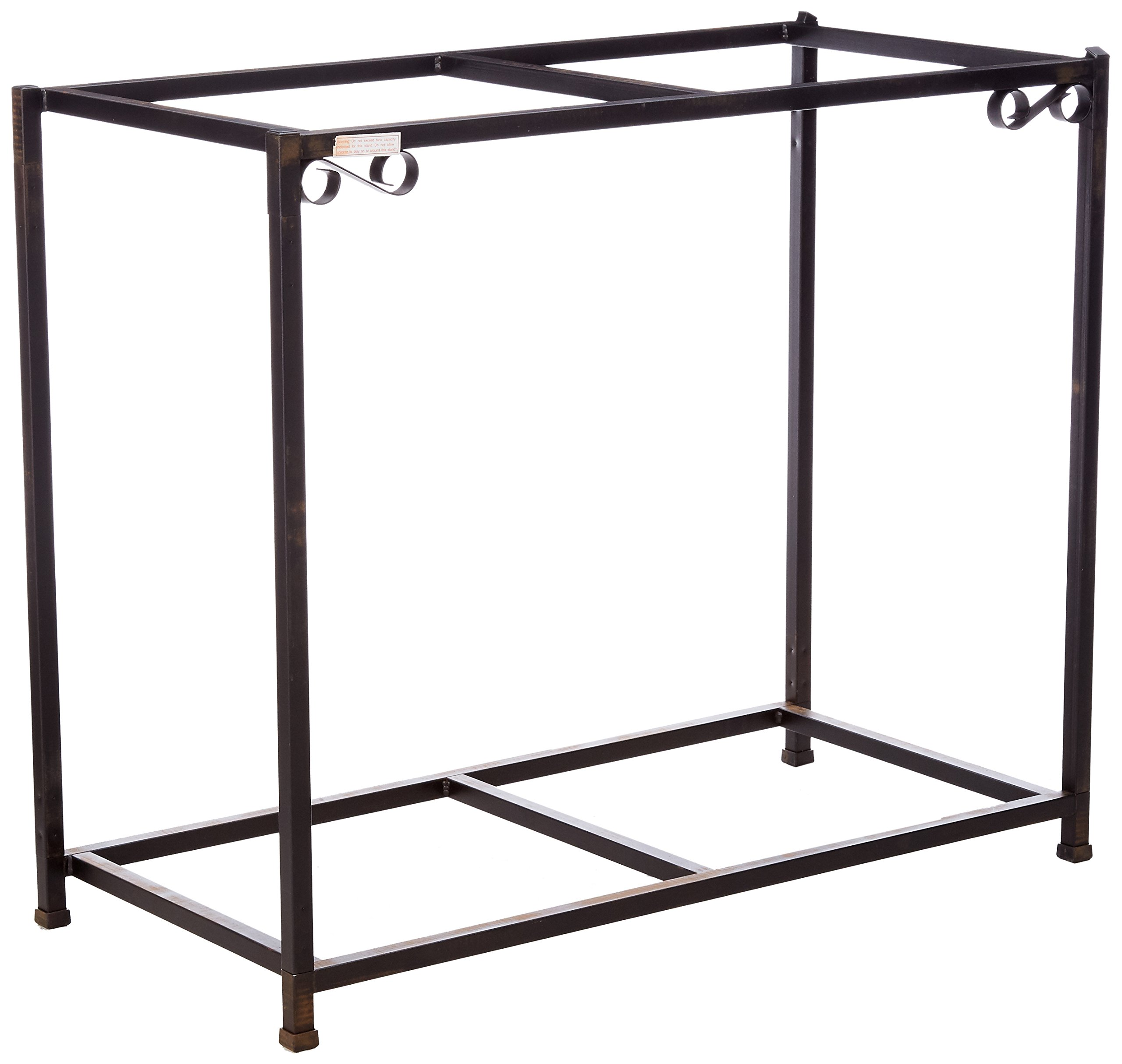 Caitec Bird Toys TitanEzeDouble Aquarium Stand, Two Stands in One, Upper & Lower Levels, Birds, Fish, Small Animals, 30 Gallons, 38-1/2''L x 29''H x 13''W by Caitec Bird Toys