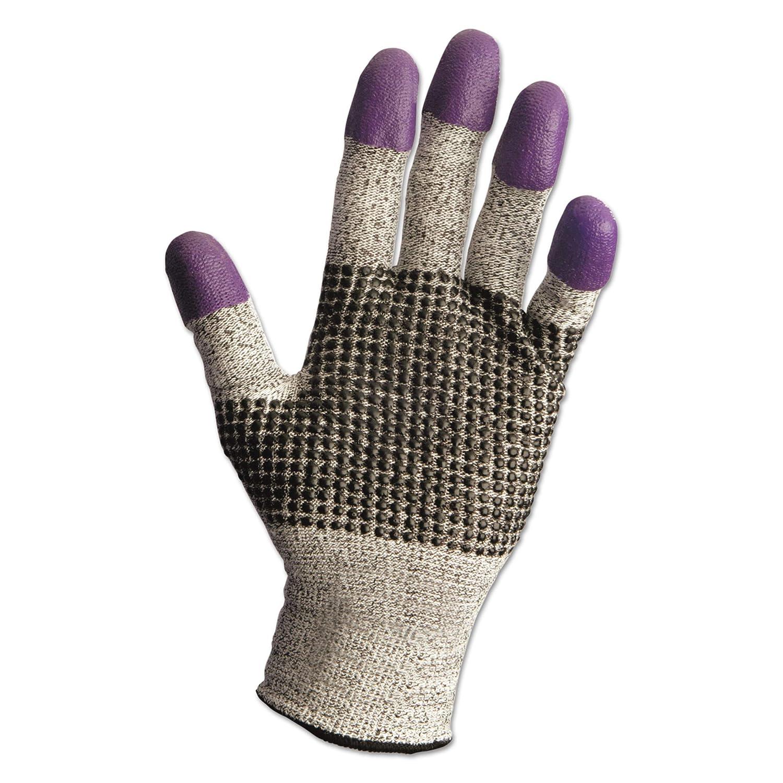 Jackson Safety 97432CT G60 Purple Nitrile Gloves, Large/Size 9, Black/White, 12 Pair/Carton by Jackson Safety  B00SV0KDIU