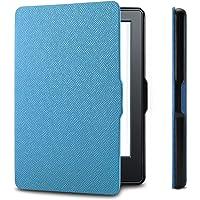 Capa para Kindle Básico da 8a geração - Rígida - Fecho Magnético - Hibernação - Várias Cores (azul claro)