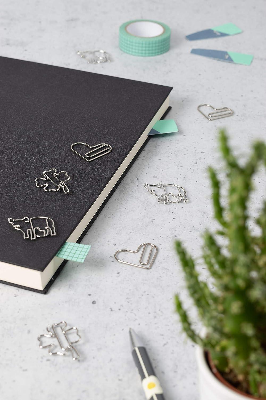 Briefklammer oder Bookmark Paperclip I Paper Clips als Deko oder Lesezeichen 12x B/üroklammer mit 3 Gl/ücksbringermotiven S003 f/ür B/üro oder Zuhause B/üroklammern Set