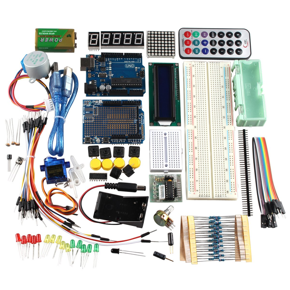 Haljia R3 Uno Learning Kit Starter For Arduino With Amazonco 4 Wire Stepper Motor Wiring Harness Electronics