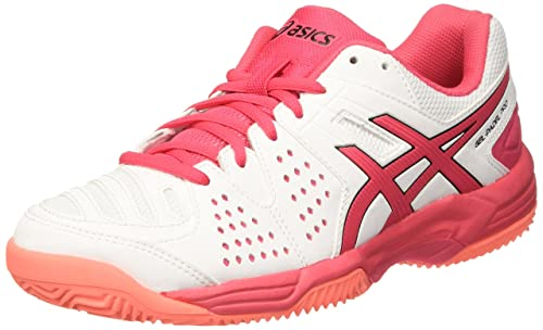 Asics E561Y0119, Zapatillas de Tenis para Mujer, Blanco (White/Rouge Red/Flash Coral), 39.5 EU: Amazon.es: Zapatos y complementos