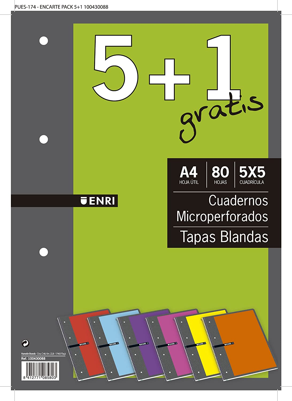 Enri- Cuaderno Horizontal, 80 Hojas, a4 (Oxford 102035604): Amazon ...