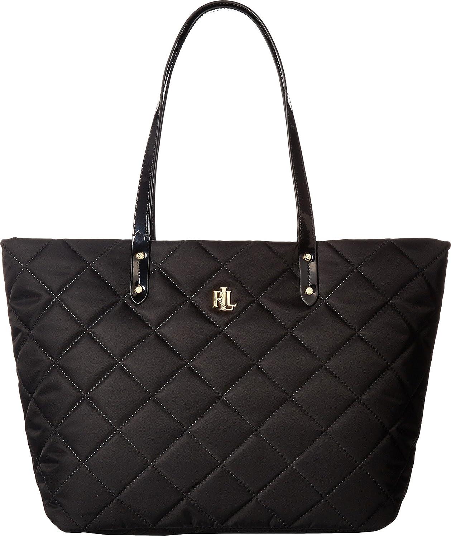 LAUREN Ralph Lauren Women s Bainbridge Medium Tote Black Crossbody Bag   Amazon.in  Shoes   Handbags b0a57de1a343b