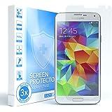 3x Samsung Galaxy S5 / S5 Neo Schutzfolie - EAZY CASE Displayschutz (Screen Protector) - Super dünne Displayschutzfolie (0,05mm) für mehr Sicherheit (3er Pack)