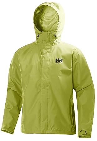 Helly Hansen Seven J Jacket - Chaqueta de Lluvia para Hombre, Hombre, Color Bright Chartreuse, tamaño S: Amazon.es: Deportes y aire libre
