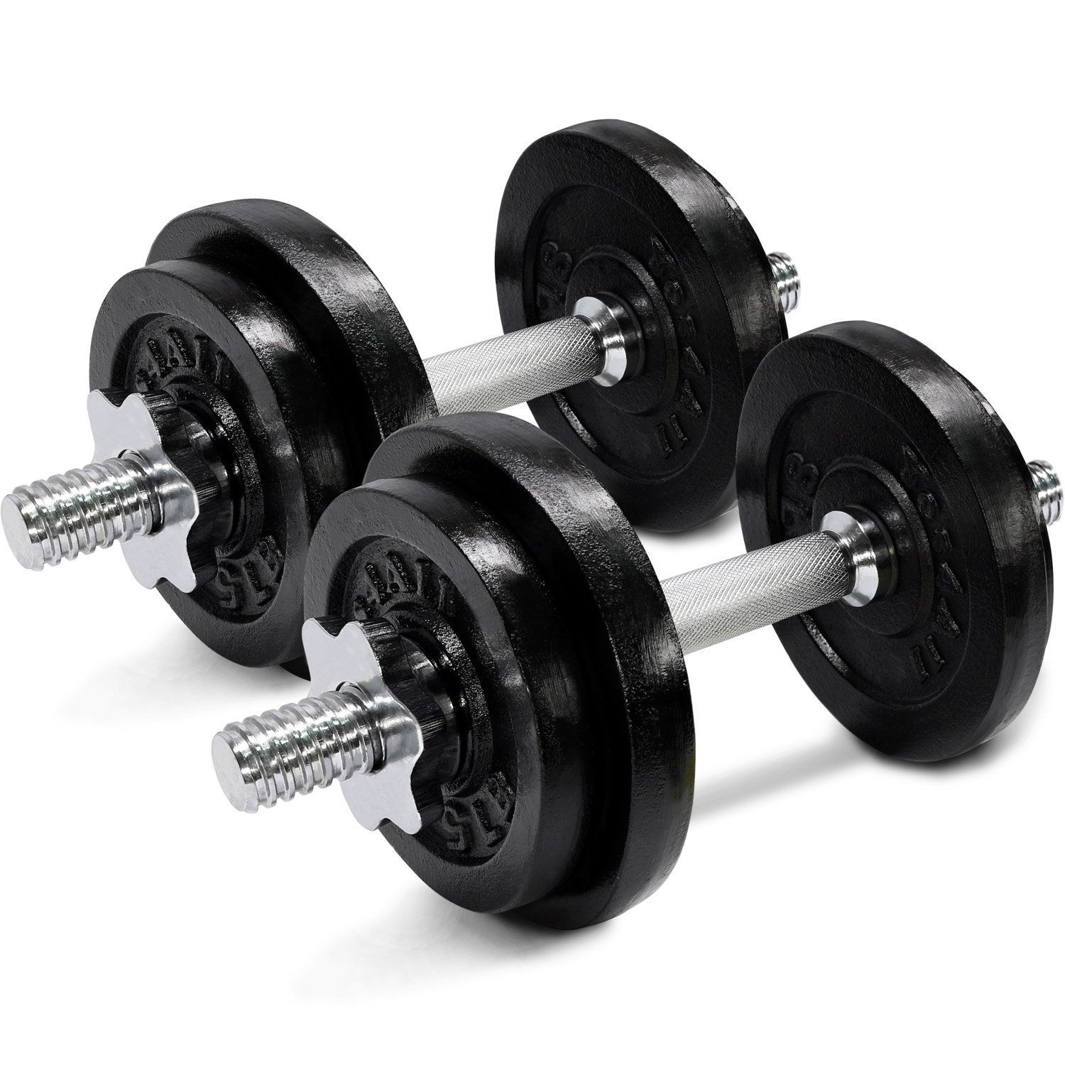 Dumbbell Set Up To 50: 40 Pound Adjustable Dumbbells Set Exercise Workout Weight