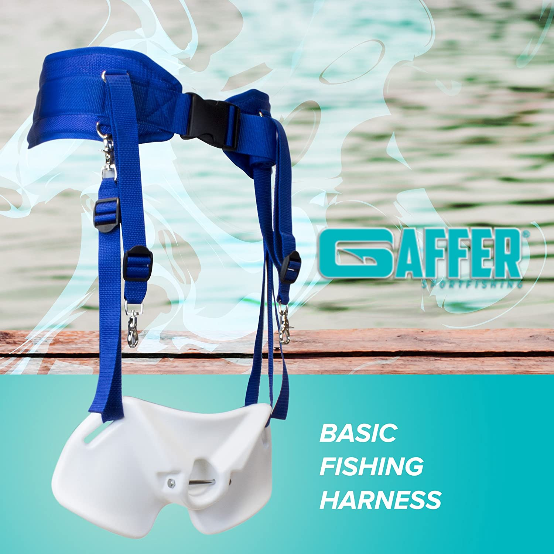 ABS Plastic Offshore Fishing Rod Holder Gaffer Sportsfishing Fishing Back Harness with Fighting Belt Fishing Waist Belt