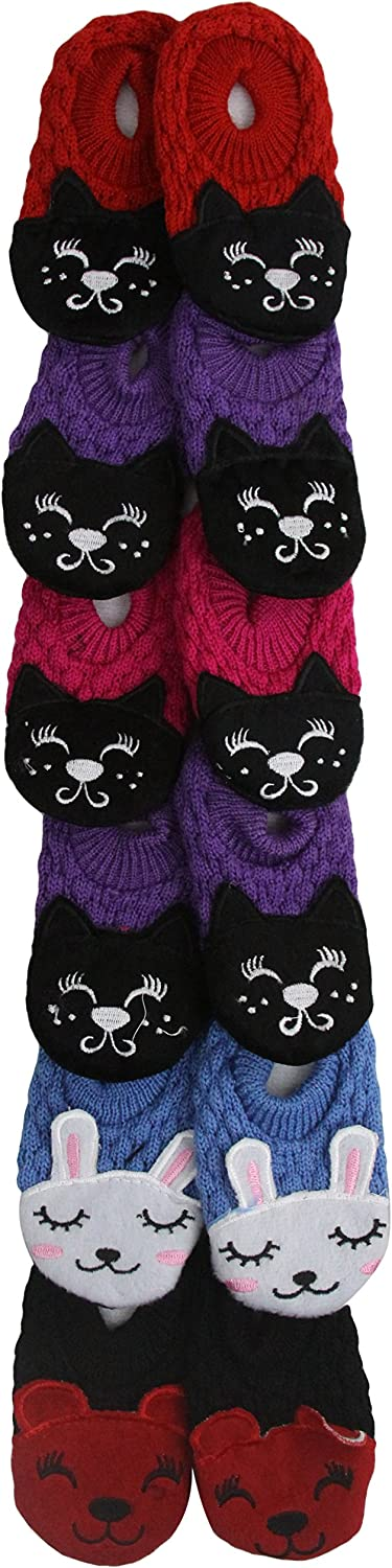 ToBeInStyle Baby Girls Pack of 6 Cat Head Slipper Shoes