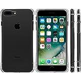 Highend berry iPhone7 Plus iPhone8 Plus ケース 耐衝撃 TPU ケース アイフォン7 プラス アイフォン8 プラス カバー Arc 落下防止 用 ストラップ ホール 付き 保護キャップ 一体型 ストラップ 付き クリア