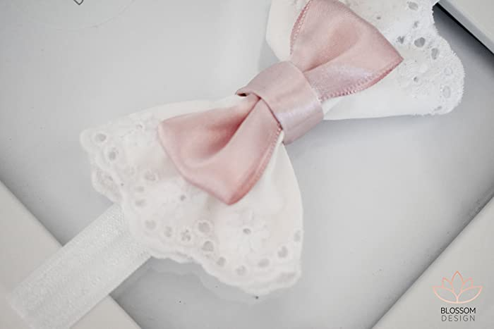 Amazon.com  White Baby Headband 914915ee9ca