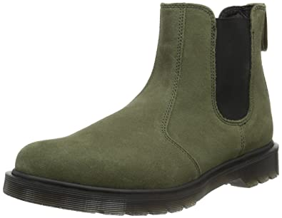 Dr. Martens 2976 Suede  Khaki Herren Chelsea Stiefel  Suede Amazon   Schuhe ... 59d695