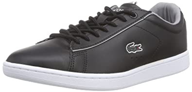 856eca201 Lacoste Women s CARNABY EVO EDG Low-Top Trainer Black Size  3.5 ...
