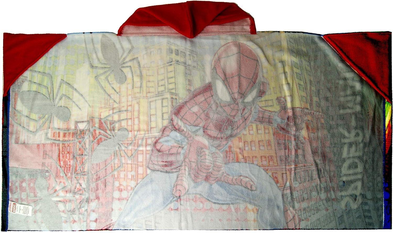 Marvel Spiderman Poncho Towel,Bath Towel,Swimming Pool,Beach Towel,Official Licensed
