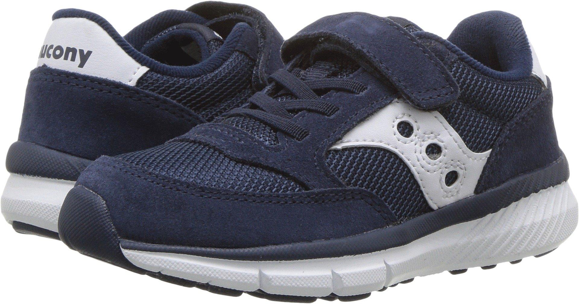 Saucony Jazz Lite A/C Sneaker (Little Kid), Navy/White, 13.5 Wide US Little Kid