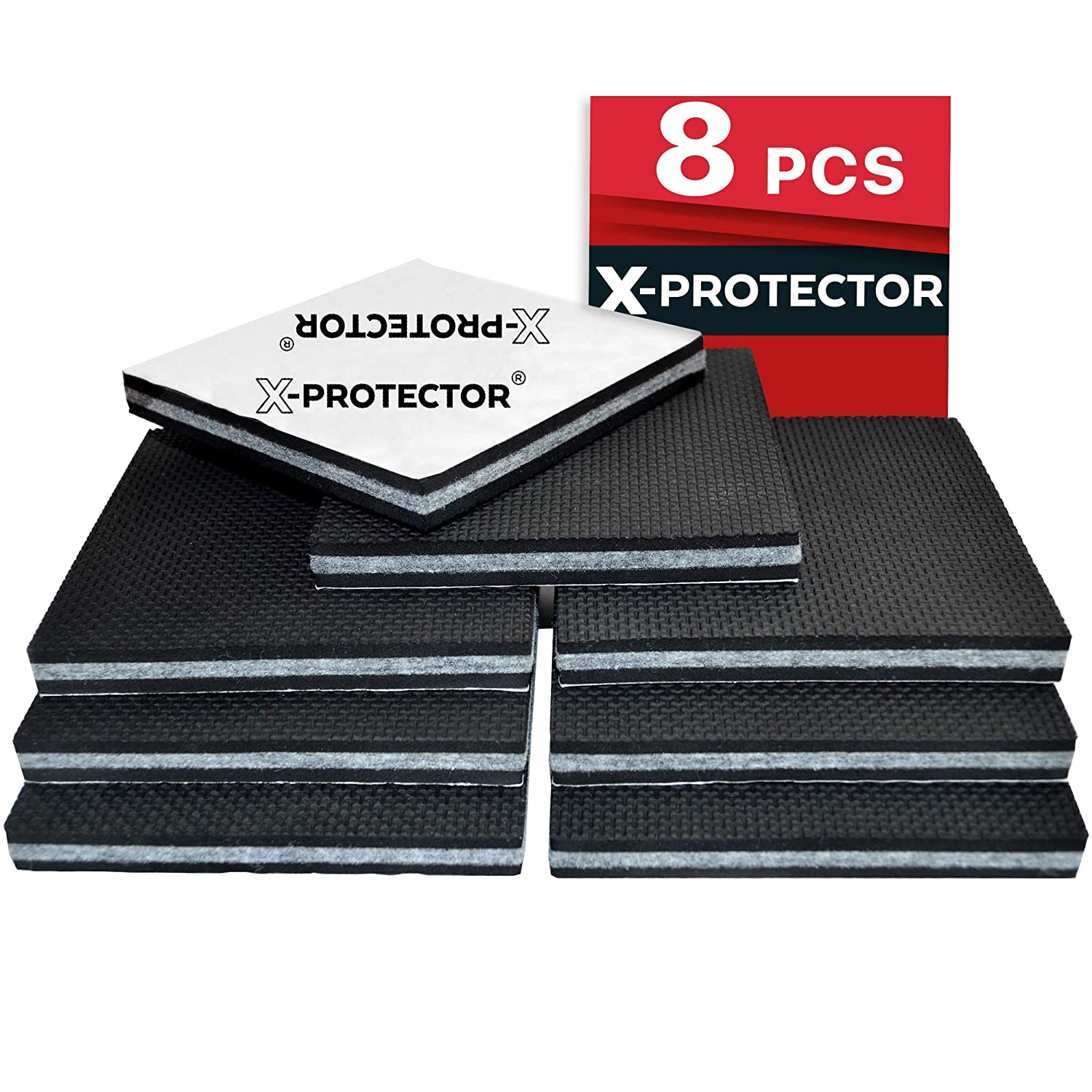 Non Slip Pads X-Protector - Floor Protector Pads - 8 pcs 100 mm Furniture Pads! Best Floor Protectors Pads - Rubber Feet – Premium Anti Slip Rubber Pads for Furniture Feet. FIX Furniture in Place! NeoSales Corp