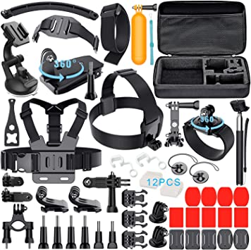 Leknes 52 in 1 Accesorios Kit para GoPro Hero 5 4 3+ 3 2 1 SJCAM ...