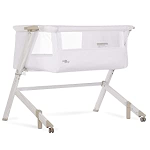 Evolur Stellar Bassinet and Bed Side Sleeper, White