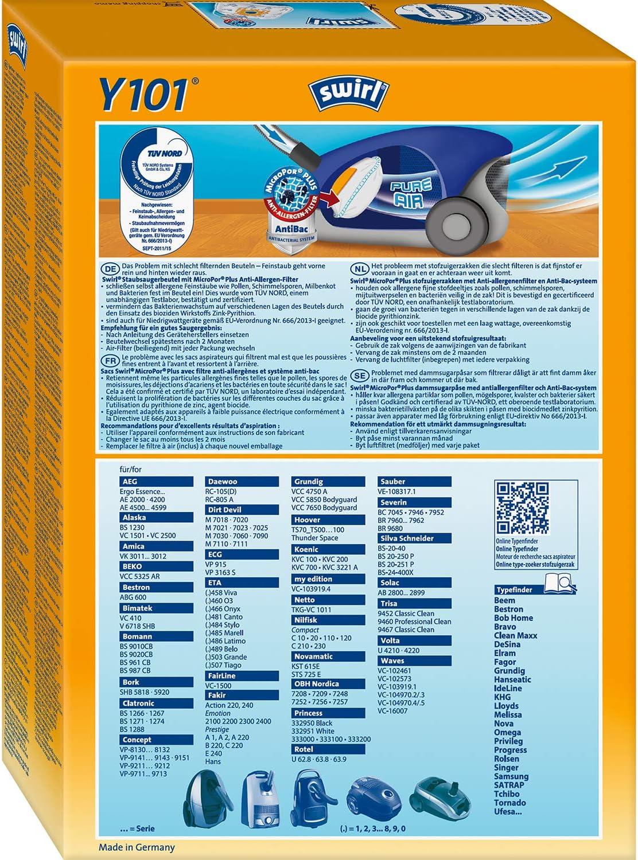 20 sacs pour aspirateur adapté pour Fairline VC 1500