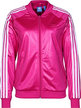 adidas Originals Womens Superstar Track Top Blast Pink