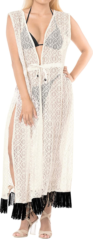 LA LEELA Womens Loose Kimono Cardigan Cover Up Casual Blouse Tops Embroidered