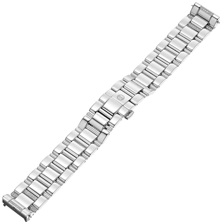 Michele ms18cw235009 Deco 18 mm Diamond andステンレススチールシルバー腕時計ブレスレット  B003B90L10