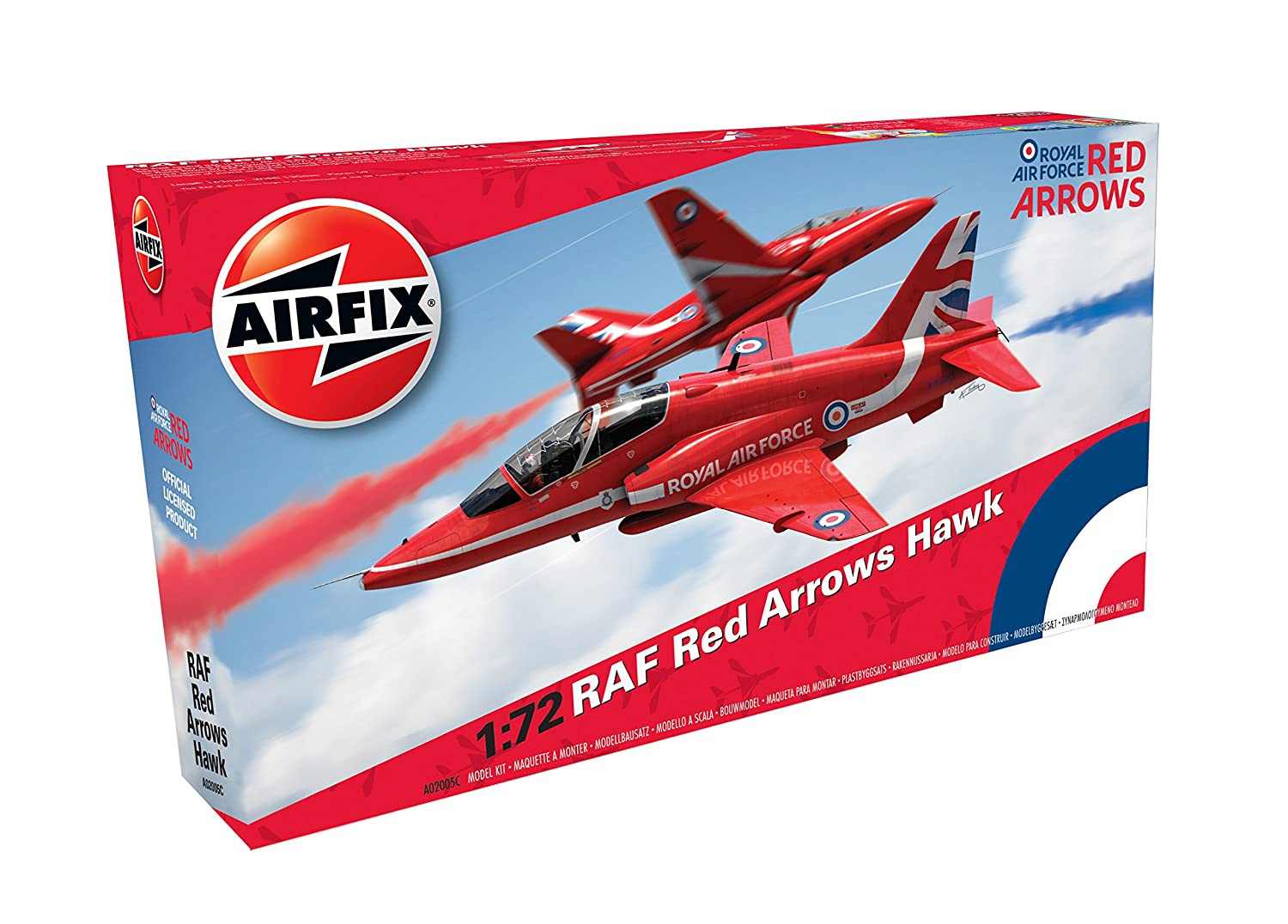 Airfix A02005C RAF Red Arrows Hawk Military Plastic Model Kit (1:72 Scale)