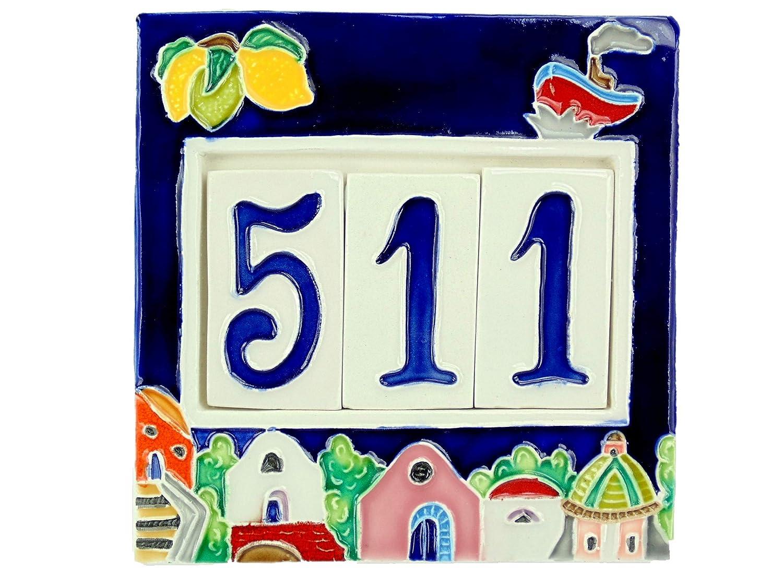 Numeri civici in ceramica con cornice piastrella ceramica numeri