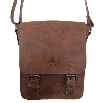7210ccac110b6 ROWALLAN VINTAGE TOBACCO BROWN BUFFALO LEATHER SHOULDER BAG  Amazon.co.uk   Shoes   Bags