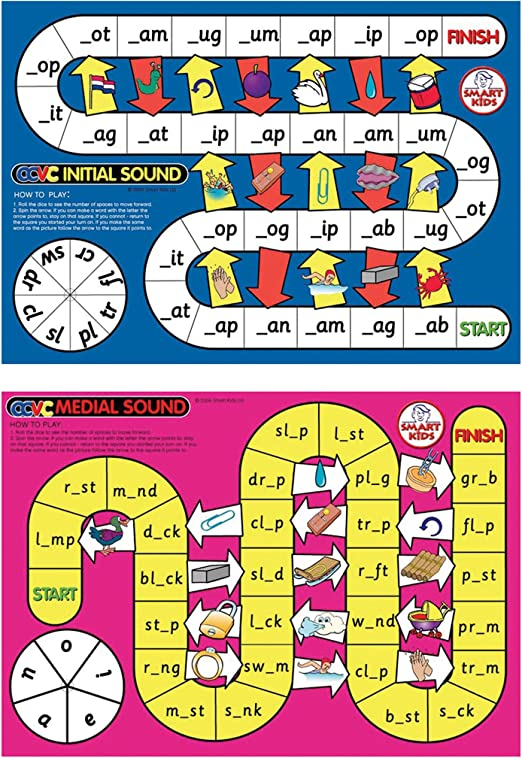 Didax Educational Resources CVC Spelling Board Game on halloween rules video, computer lab rules video, school rules video,