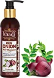 Khadi Global Onion Shampoo With Caffeine Curry Leaf & Indian Alkanet Root 200ml / 6.76 Fl.Oz | Control Hair Fall Splitends & Dandruff