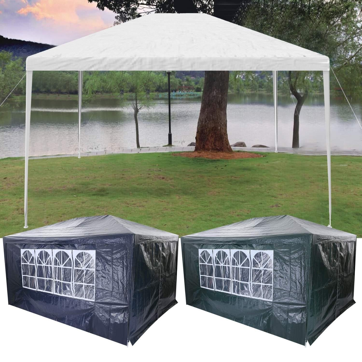 Cooshional 3 x 4m Heavy Duty Outdoor Marquee Garden Gazebo Waterproof Wedding Marquee Party Tent Event Shelter (Blue)