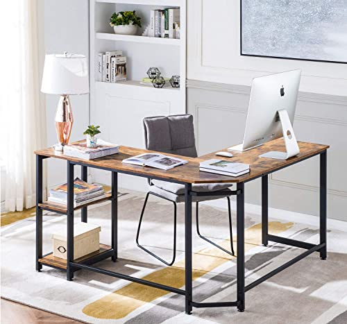 VINEXT L-Shaped Computer Corner Desk
